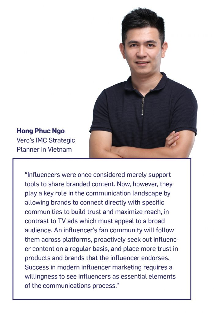 Among Vietnam's youth, online influencers are the equals of any other media